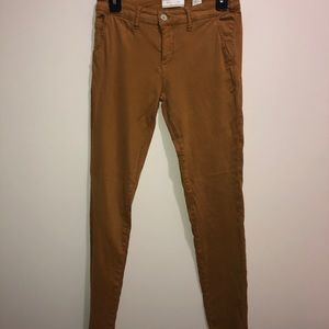 Anthropologie Hei Hei Sz 26 Mustard Yellow Skinny